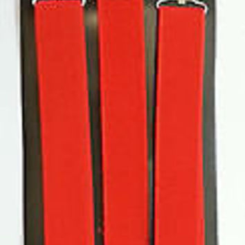 Solid RED Adjustable Bow Tie & Solid RED Adjustable Suspenders Combo-New