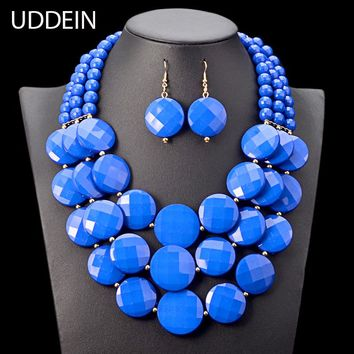 UDDEIN Nigerian wedding Indian Jewelry Set Multi layer Beads Necklace Women Bohemian Statement Chokers African Beads Jewelry