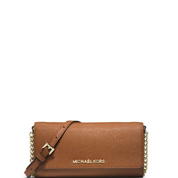 Jet Set Saffiano Travel Wallet-on-Chain, Luggage - MICHAEL Michael Kors