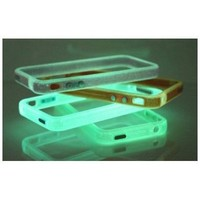 SODIAL- Pink Translucent Glow in the Dark Premium Bumper Case for Apple iPhone 4/4s (Free Front+Bac