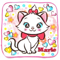 Small Marie Aristocats Cat and Heart Print Handkerchief Face Towel | Disney