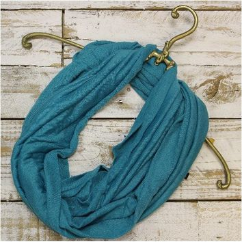 SALE scarf - teal jersey scarf