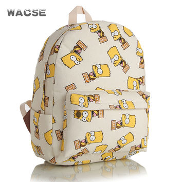 Thicken Korean Canvas Backpack = 4887527172