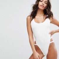 PrettyLittleThing Cut Out Side Detail Swimsuit at asos.com