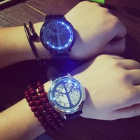 Women Men Fashion Life Tree Luminous Watch Wristwatch