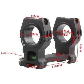 Tactical M10 QD Scope mount 30MM 35MM Dual Ring 20MM rail with Bubble Level Riflescope Laser Flashlight Mount 2-0030