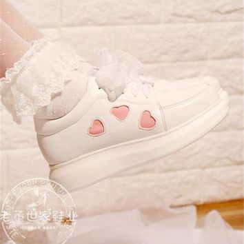 Japanese Anime Lolita Shoes Sneakers Love Sweet Princess Cute Student Cos Cosplay Shoes