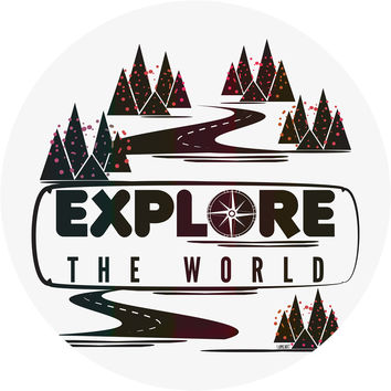 Explore the World Circle Wall Decal