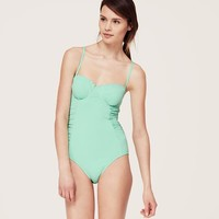 LOFT Beach Scallop Trim One Piece Swimsuit