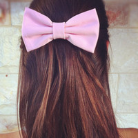 Light pink BIG hair bow
