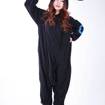 Kigurumi Adult Umbreon Onesuits Anime  Cosplay Costume Winter Sleepwear Pajamas JumpsuitKawaii Pokemon go  AT_89_9