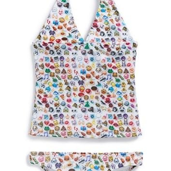 Girl's Zara Terez 'Emoji' Two-Piece Swimsuit,