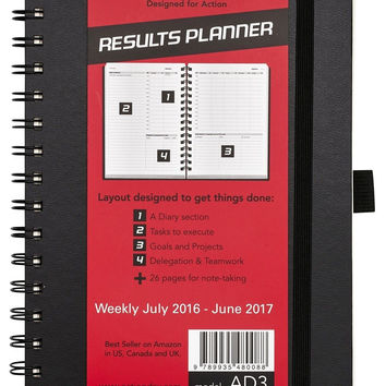 Action Day Planner 2016 - 2017 Academic Calendar : Daily Weekly Monthly Yearl...