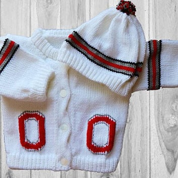 Ohio State Baby Sweater