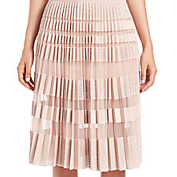 BCBGMAXAZRIA - Taura Faux-Leather Mesh Skirt - Saks Fifth Avenue Mobile