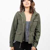 Drawstring Field Jacket