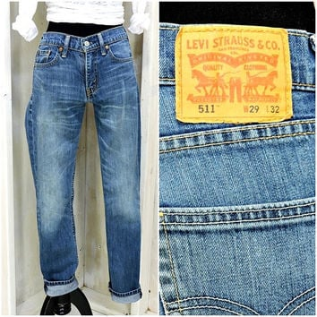 Vintage Levis 511 29 X 32 / 90s LEVI'S  high waisted skinny jeans / Levi Strauss 511s slim fit womens jeans