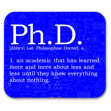 Ph. D. Definition Mouse Pad