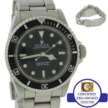 Vintage Classic 1967 Rolex Submariner 5513 Steel Black 40mm No Date Dive Watch