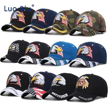 2019 Black Cap USA Flag Eagle Embroidery Baseball Cap Snapback Caps Casquette Hats Fitted Casual Gorras Dad Hats For Men Women