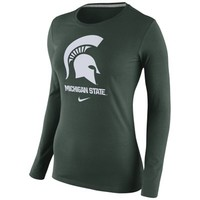 Michigan State Spartans Nike Womens Logo Long Sleeve T-Shirt – Green