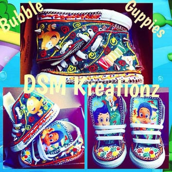 It's timeeeeeeee forrrrr BUBBLE GUPPIES custom converse shoes!!!