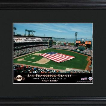 Personalized MLB Stadium Print - Giants