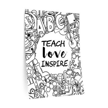 Teacher Gifts Wall Decals Teach Love Inspire
