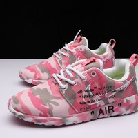 Best Deal Online OFF-White X Nike Air Roshe One Camo Pink Running Shoes
