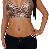Honey Pot (Gold)-Great Glam is the web's best online shop for trendy club styles, fashionable party dresses and dress wear, super hot clubbing clothing, stylish going out shirts, partying clothes, super cute and sexy club fashions, halter and tube tops, b