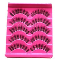 5 Pairs Natural Long False EyeLashes Makeup Handmade Thick Fake False Eye Lashes Cosmetic Tools