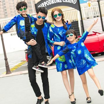 Family Matching Clothes For Mother Daughter Dresses Family Look Son Outfits Kits Mommy and Me Father Daughter Clothes GH274