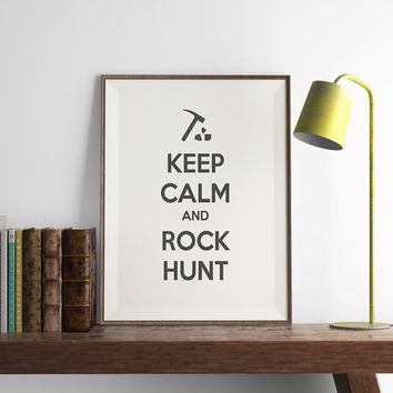 GEOLOGIST Keep Calm Print | Funny Geology Wall Art | Art Printable | Printable Wall Art | PDF Download | Funny Art