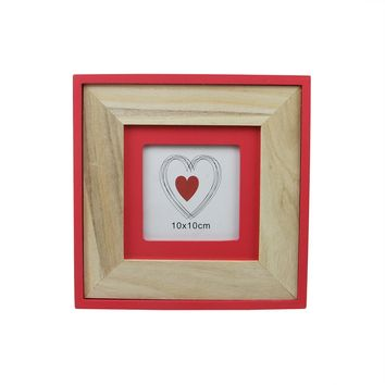 "8.5"" Basic Luxury Tabletop Picture Frame with Living Coral Pink Accents"