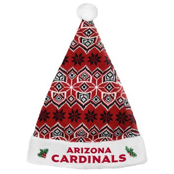 Arizona Cardinals Knit Santa Hat