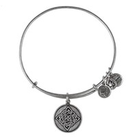 Alex and Ani Celtic Knot Charm Bangle - Russian Silver