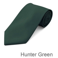 Hunter Green Wedding Tie and Hanky Set