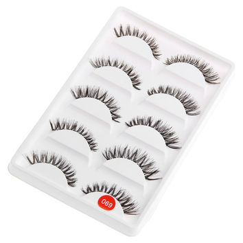 Eye Tail Lengthening Thick Reusable False Eyelashes