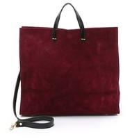 Suede Simple Tote