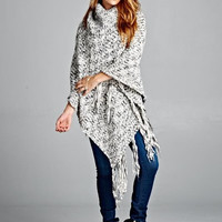 COZY KNITTED PONCHO