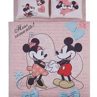 Disney, Mickey & Minnie, Love, Bedding Set, Double