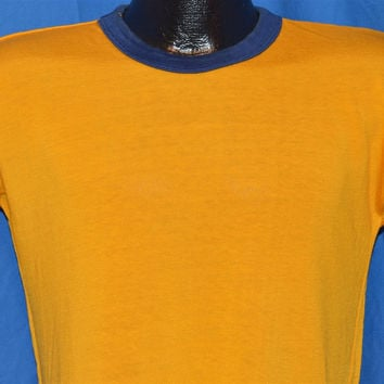 50s Southern Athletic Gold Blue Rayon Jersey t-shirt Medium