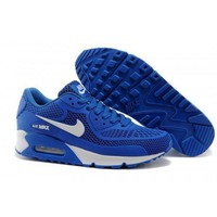 Men s Women s Nike Air Max 90 KPU Shoes Royal Blue White