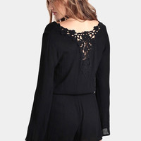 Moment Of Truth Lace Romper