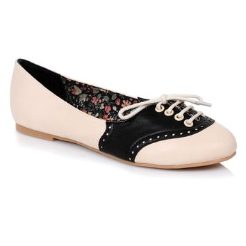 "Ellie Shoes E-BP100-Halle 1"" Oxford Flat"