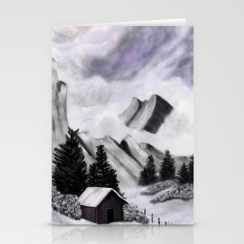 Misty Mountains Stationery Cards by alishadawn