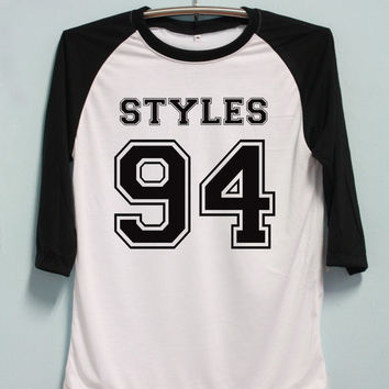 One Direction Shirt Harry Styles 94 Shirt 1D Shirt T-Shirt Jersey Baseball Raglan Tee 3/4 Sleeve Unisex Men Women Size S M L