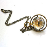 Steampunk Harry Potter TIME TURNER Necklace by GlazedBlackCherry