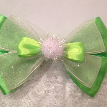 Tinkerbell Peter Pan, Pixie and Tinker Fairy Bow, Flitterific by Design Bowtique