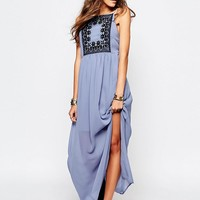 First & I Lace Detail Maxi Dress